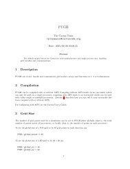 1 Description 2 Compilation 3 Grid Size - Cactus Code