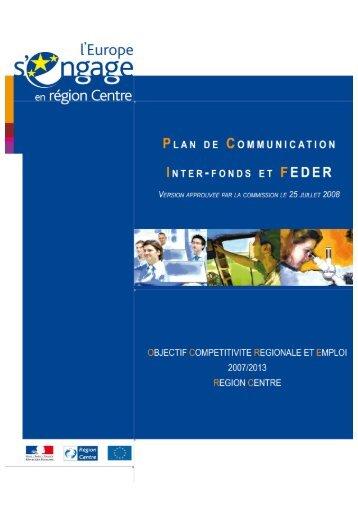 Plan Communication - L'Europe s'engage en région Centre