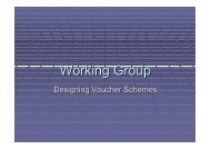 Working Group - (SHOPS) project