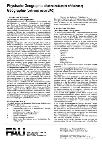 Physische Geographie (Bachelor/Master of Science ... - FAU