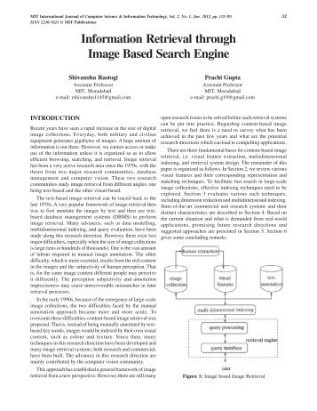 Information Retrieval through Image Based ... - MIT Publications