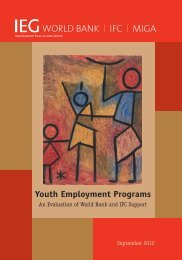 Youth Employment Programs - Independent Evaluation Group