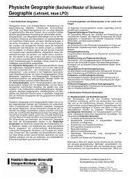 Physische Geographie - Friedrich-Alexander-Universität Erlangen ...