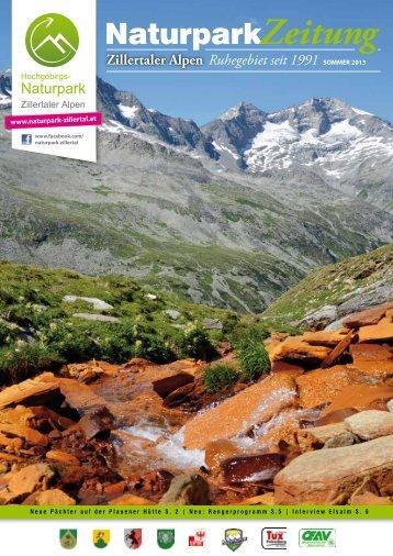 NaturparkZeitung - Hochgebirgs-Naturpark Zillertaler Alpen