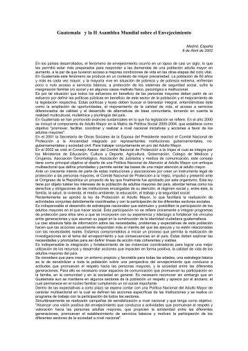 Población adulta mayor en Guatemala - RAM ==> Red para el ...