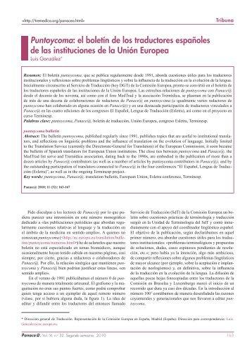 Puntoycoma: el boletín de los traductores españoles de ... - Tremédica
