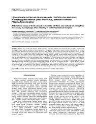 Uji Antimalaria Ekstrak Buah Morinda citrifolia dan Aktivitas ... - UNS