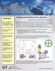 Timing and Auxiliary Drive Systems