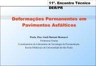 Deformações Permanentes em Pavimentos Asfálticos - DER