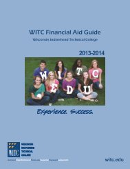 WITC Financial Aid Guide - Wisconsin Indianhead Technical College