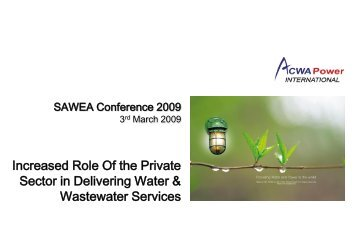 ACWA Power International - Saudi Arabian Water Environment ...