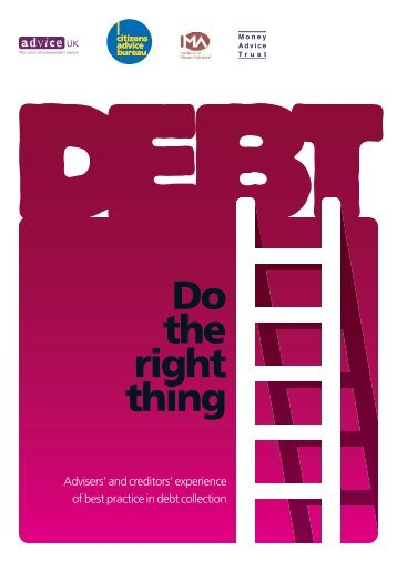 Do the right thing, Adviser's and creditors experience of best practice ...