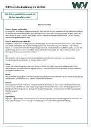 W&V Extra Mediaplanung II in 39/2013 - Verlag - W&V