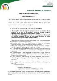 Normativa Copa Benjamin - Federación Andaluza de Baloncesto