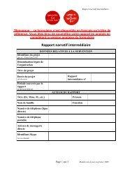 Rapport narratif intermédiaire - Campaign for Tobacco-Free Kids