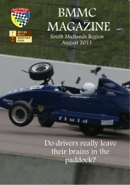 BMMC MAGAZINE - British Motor Racing Marshals Club