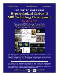 2012 HMTRC WORKSHOP Hyperpolarized Carbon-13 MRI ...