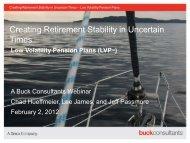 Low Volatility Pension Plans - Buckconsultants.com