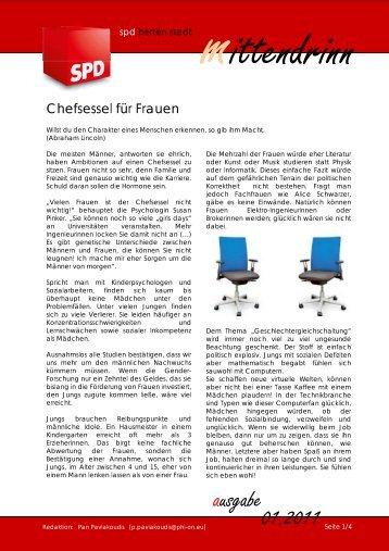 Chefsessel für Frauen - SPD Herten
