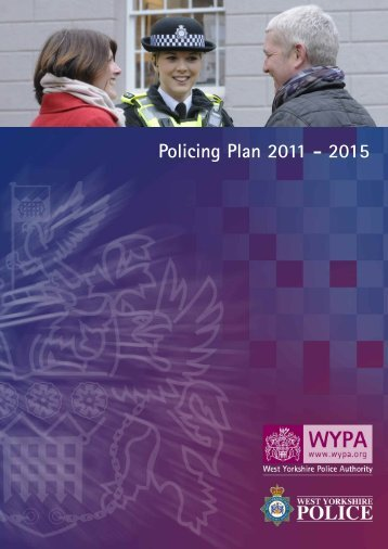 Policing Plan 2011 - 2015 - West Yorkshire Police