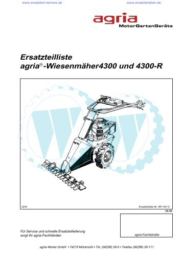Ersatzteilliste agria -Wiesenmäher4300 und 4300-R - Wölfnitzer ...