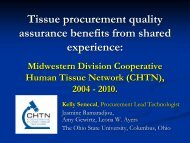 Tissue Procurement Quality Assurance in the Midwestern Division ...