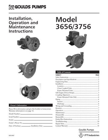 Model 3656/3756