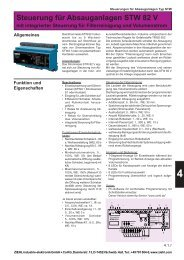 Steuerung für Absauganlagen STW 82 V - drive-electric.hu