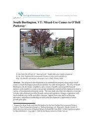 South Burlington, VT - New England Environmental Finance Center
