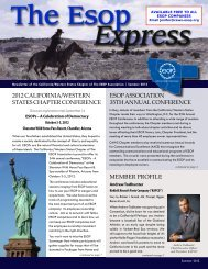 Summer 2012 Edition - The ESOP Association