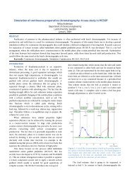 Simulation of continuous preparative chromatography: A case study ...