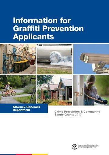 Information for Graffiti Prevention Applicants - Attorney-General's ...