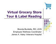 Virtual Grocery Store Tour & Label Reading