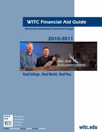 table of contents - Wisconsin Indianhead Technical College