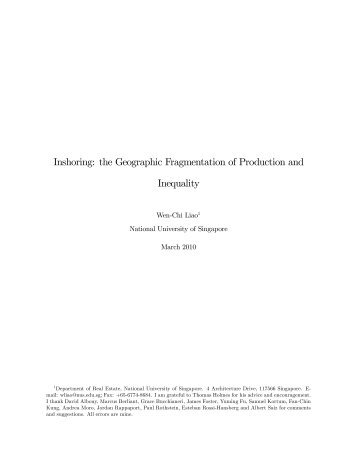 Inshoring: the Geographic Fragmentation of Production and ... - AsRES