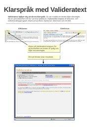 Användarhandledning Validera text