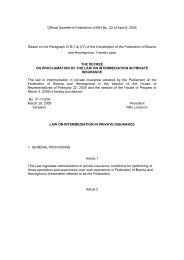Official Gazette of Federation of BiH No. 22 of April 6 ... - Bosna RE
