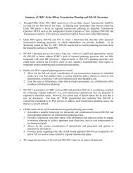 Summary of FERC Order 890 on Transmission Planning and ISO ...