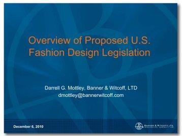 Overview of Proposed U.S. Fashion Design Legislation - Banner ...