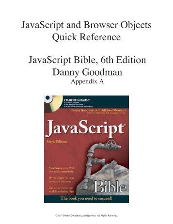 JavaScript and Browser Objects Quick Reference [.pdf] - buildrelease