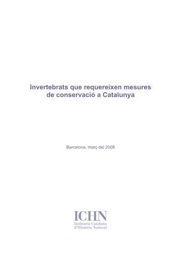 Invertebrats que requereixen mesures de conservació a Catalunya!