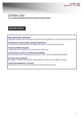 esporta la Lettera CRUI in formato pdf