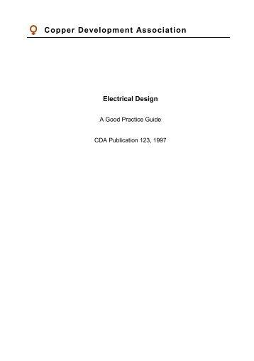 Electrical Design - A Good Practice Guide - Copper Development ...