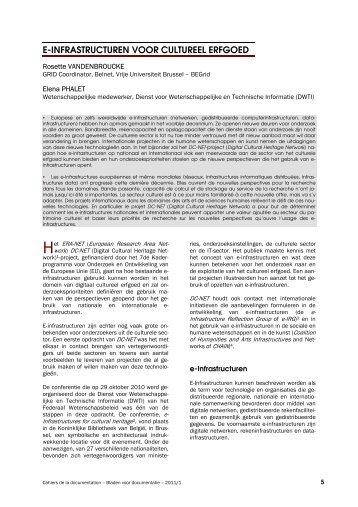 e-infrastructuren voor cultureel erfgoed - ABD-BVD
