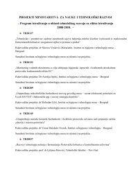 Projekti u periodu 2008–2010. godine - Institut za higijenu i ...