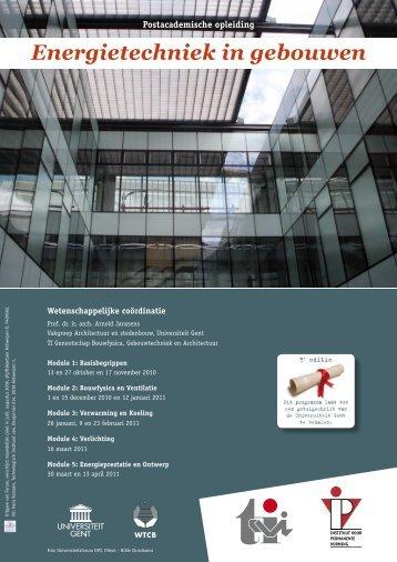 Energietechniek in gebouwen - Instituut voor Permanente Vorming