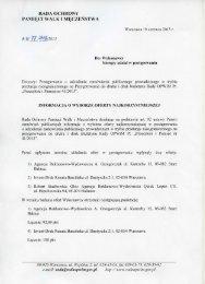 Informacja o wyborze oferty najkorzystniejszej - Rada Ochrony ...