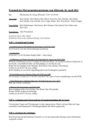 Protokoll der Pfarrgemeinderatssitzung vom Mittwoch, 10. April 2013