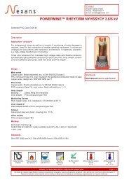POWERMINE™ RHEYFIRM NYHSSYCY 3.6/6 kV - Nexans