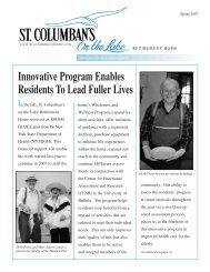 SC Newsletter-PDF - St. Columban's on the Lake Retirement Home